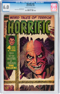 Golden Age (1938-1955):Horror, Horrific #10 (Comic Media, 1954) CGC FN 6.0 Cream to off-whitepages....