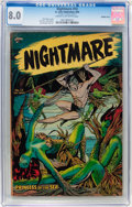 Golden Age (1938-1955):Horror, Nightmare #13 Double Cover (St. John, 1954) CGC VF 8.0 Cream tooff-white pages....