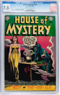 Golden Age (1938-1955):Horror, House of Mystery #24 (DC, 1954) CGC VF- 7.5 Off-white to whitepages....