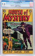 Golden Age (1938-1955):Horror, House of Mystery #20 (DC, 1953) CGC VF- 7.5 Cream to off-whitepages....