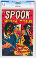 Golden Age (1938-1955):Horror, Spook #23 (Star Publications, 1953) CGC VF- 7.5 Off-white pages....