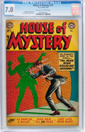 Golden Age (1938-1955):Horror, House of Mystery #16 (DC, 1953) CGC FN/VF 7.0 Cream to off-whitepages....