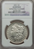 Morgan Dollars: , 1893 $1 -- Improperly Cleaned -- NGC Details. AU. NGC Census:(237/2817). PCGS Population (311/4301). Mintage: 389,792. Num...