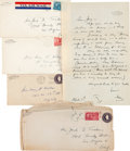 Movie/TV Memorabilia:Autographs and Signed Items, A Fredric March Group of Handwritten Letters, 1948.... (Total: 4Items)