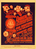 Music Memorabilia:Posters, Quicksilver/ Big Brother Avalon Concert Poster FD-36 (Family Dog,1966). ...