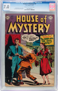 Golden Age (1938-1955):Horror, House of Mystery #4 (DC, 1952) CGC FN/VF 7.0 Cream to off-whitepages....