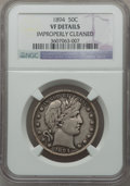 Barber Half Dollars: , 1894 50C -- Improperly Cleaned -- NGC Details. VF. NGC Census:(2/163). PCGS Population (5/212). Mintage: 1,148,972. Numism...