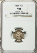 Proof Three Cent Nickels: , 1888 3CN PR66 NGC. NGC Census: (167/19). PCGS Population (169/23).Mintage: 4,582. Numismedia Wsl. Price for problem free N...