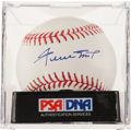 Baseball Collectibles:Balls, Willie Mays Single Signed Baseball PSA Mint 9. ...