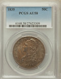 Bust Half Dollars: , 1835 50C AU58 PCGS. PCGS Population (113/146). NGC Census:(189/207). Mintage: 5,352,006. Numismedia Wsl. Price for problem...