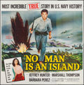 "Movie Posters:War, No Man Is an Island (Universal International, 1962). Six Sheet (78""X 78""). War.. ..."