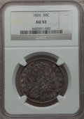 Bust Half Dollars: , 1826 50C AU53 NGC. NGC Census: (112/981). PCGS Population(138/881). Mintage: 4,000,000. Numismedia Wsl. Price for problem...