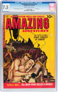 Golden Age (1938-1955):Science Fiction, Amazing Adventures #6 (Ziff-Davis, 1952) CGC VF- 7.5 Cream tooff-white pages....
