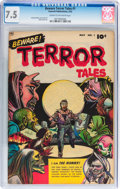 Golden Age (1938-1955):Horror, Beware Terror Tales #1 (Fawcett Publications, 1952) CGC VF- 7.5Cream to off-white pages....