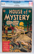 Golden Age (1938-1955):Horror, House of Mystery #1 (DC, 1952) CGC FN- 5.5 Off-white pages....