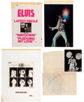 Music Memorabilia:Posters, Elvis Presley - Cashbox Ad Art and Proofs (1974-77).... (Total: 4 Items)