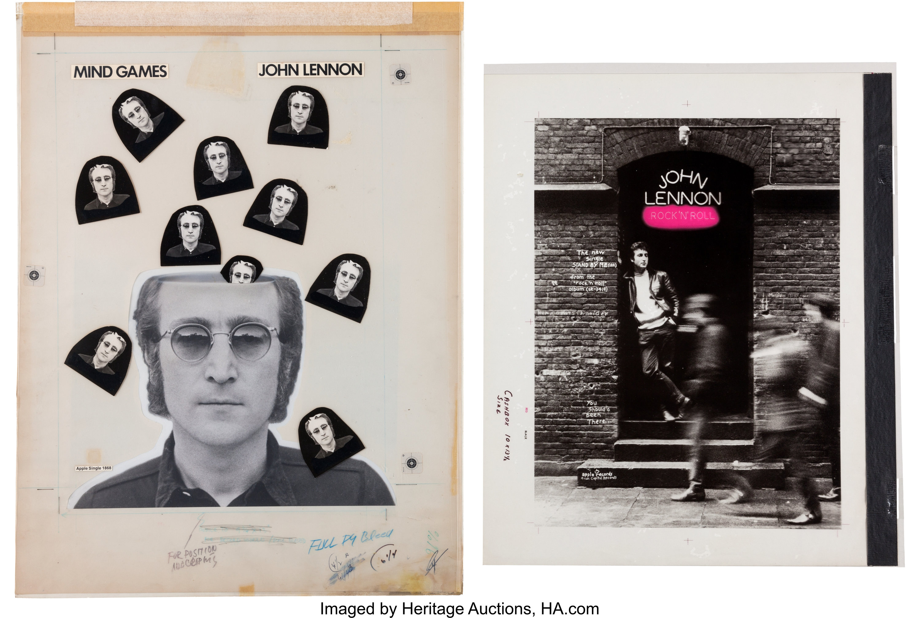 Beatles John Lennon Cashbox Ad Art For Mind Games And Stand By Me Lot 47023 Heritage Auctions