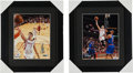 Basketball Collectibles:Photos, Jeremy Lin Signed Photographs Lot of 2....