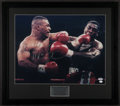 Boxing Collectibles:Autographs, Mike Tyson Signed Oversized Photograph....