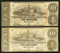 Confederate Notes:1863 Issues, T59 $10 1863.. ... (Total: 2 notes)