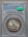 Commemorative Silver: , 1925 50C Lexington MS66 PCGS. CAC. PCGS Population (328/9). NGCCensus: (209/13). Mintage: 162,013. Numismedia Wsl. Price f...