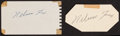 Baseball Collectibles:Others, Nellie Fox Signed Cut Signatures Lot of 2....