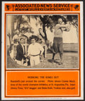 Baseball Collectibles:Others, 1930's Babe Ruth, Jimmie Foxx and Connie Mack Associated NewsService Poster....
