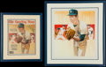 Baseball Collectibles:Others, 1979 Tommy John Original Artwork - Published on Cover of TheSporting News....