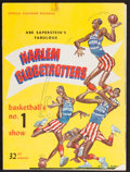 Basketball Collectibles:Programs, 1958-59 Harlem Globetrotters (Featuring Wilt Chamberlain)Program....