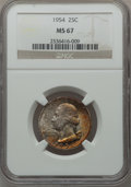 Washington Quarters: , 1954 25C MS67 NGC. NGC Census: (174/0). PCGS Population (39/0).Mintage: 54,400,000. Numismedia Wsl. Price for problem free...