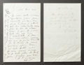 Paintings, TWO LETTERS FROM RENOIR TO ALINE REGARDING HIS MOTHER'S DECLINING HEALTH . THE RENOIR COLLECTION. ... (Total: 2 Items)