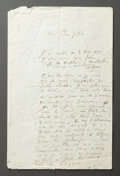 Other:European, A LETTER FROM RENOIR TO ALINE DESCRIBING HIS EXPERIENCE IN ALGIERS.THE RENOIR COLLECTION. ...