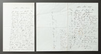 """TWO LETTERS FROM RENOIR TO ALINE DISCUSSING TWO PORTRAITS AND HIS IMPRESSION OF THE """"SOCIETY OF THE BEACH"""" WHE..."""