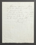 Other:European, A LETTER FROM RENOIR TO ALINE MOURNING THE DEATH OF THEIR FAMILYDOG, QUIQUI. THE RENOIR COLLECTION. ...