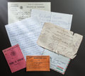 "Other:European, DOCUMENTS RELATING TO THE LIFE OF CLAUDE ""COCO"" RENOIR. THE RENOIRCOLLECTION. ... (Total: 18 Items)"