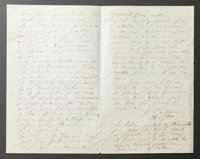 A LETTER FROM RENOIR TO ALINE CONVEYING HIS SOLITUDE [IN ALGIERS] AND FRUSTRATION WITH HIS BROTHER FOR ABANDONING HIM
