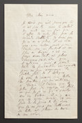 Paintings, A LETTER FROM RENOIR TO ALINE RELAYING HIS TRAVELS TO NICE, MARSEILLE, HYÈRES AND MONTE CARLO IN THE SOUTH OF FRANCE. THE ...