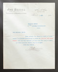 Paintings, A LETTER FROM RENOIR DEALER, JOSEPH HESSEL TO RENOIR. THE RENOIR COLLECTION. ...