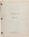 "Movie/TV Memorabilia:Documents, A Cutting Continuity Script from ""Stagecoach."". ..."