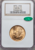 Indian Eagles: , 1932 $10 MS64 NGC. CAC. NGC Census: (11129/2563). PCGS Population(8937/1250). Mintage: 4,463,000. Numismedia Wsl. Price fo...