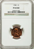 Proof Lincoln Cents: , 1940 1C PR65 Red NGC. NGC Census: (286/116). PCGS Population(594/224). Mintage: 15,872. Numismedia Wsl. Price for problem ...