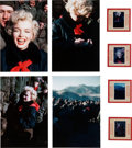 Movie/TV Memorabilia:Photos, A Marilyn Monroe Group of Never-Before-Seen Color Slides from Korea, 1954.... (Total: 4 Items)
