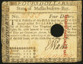 Colonial Notes:Massachusetts, Massachusetts May 5, 1780 $4 Fine.. ...