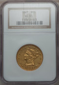 Liberty Eagles: , 1847 $10 AU55 NGC. NGC Census: (171/228). PCGS Population (36/48).Mintage: 862,258. Numismedia Wsl. Price for problem free...