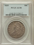 Bust Half Dollars: , 1835 50C AU50 PCGS. PCGS Population (97/463). NGC Census: (52/567).Mintage: 5,352,006. Numismedia Wsl. Price for problem f...