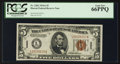 Small Size:World War II Emergency Notes, Fr. 2302 $5 1934A Hawaii Federal Reserve Note. PCGS Gem New 66PPQ.. ...
