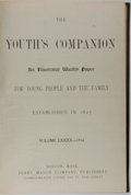 Books:Americana & American History, [Americana]. The Youth's Companion: An Illustrated Weekly Paper.Volume 90,-1916. Boston: Perry Mason Co., nd. Elep...