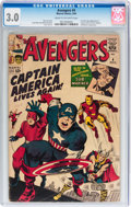 Silver Age (1956-1969):Superhero, The Avengers #4 (Marvel, 1964) CGC GD/VG 3.0 Cream to off-white pages....