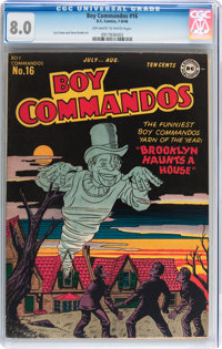 Boy Commandos #16 (DC, 1946) CGC VF 8.0 Off-white to white pages