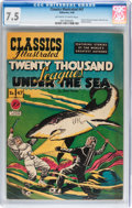 Golden Age (1938-1955):Classics Illustrated, Classics Illustrated #47 20,000 Leagues Under the Sea - FirstEdition(Gilberton, 1948) CGC VF- 7.5 Off-white to white pages....
